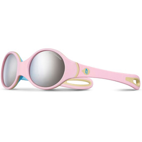 Julbo Loop Spectron 4 Sunglasses Baby 2-4Y Pink/Sky Blue/Beige-Gray Flash Silver